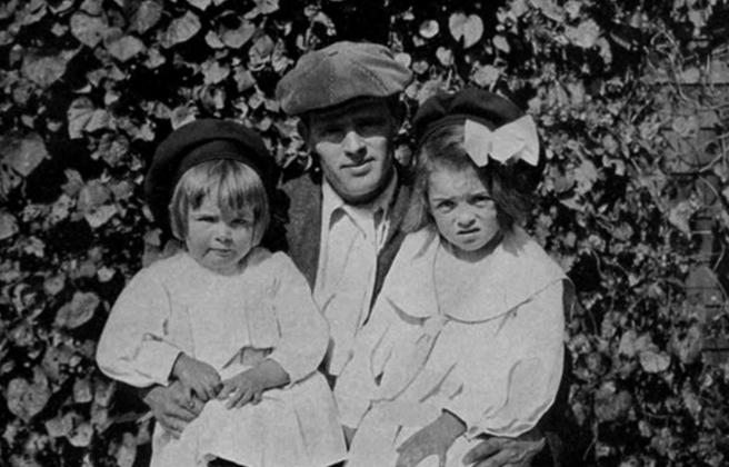 Джек Лондон с дочерьми