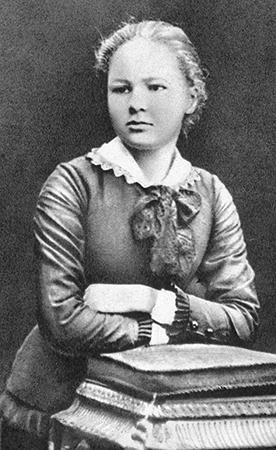 Молодая Мария Склодовская-Кюри