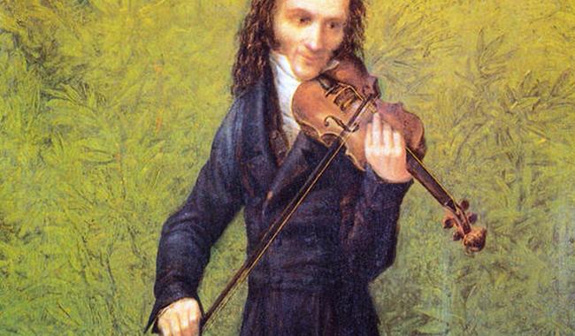 Никколо Паганини со скрипкой