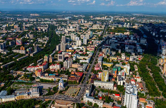 Вид на Хабаровск