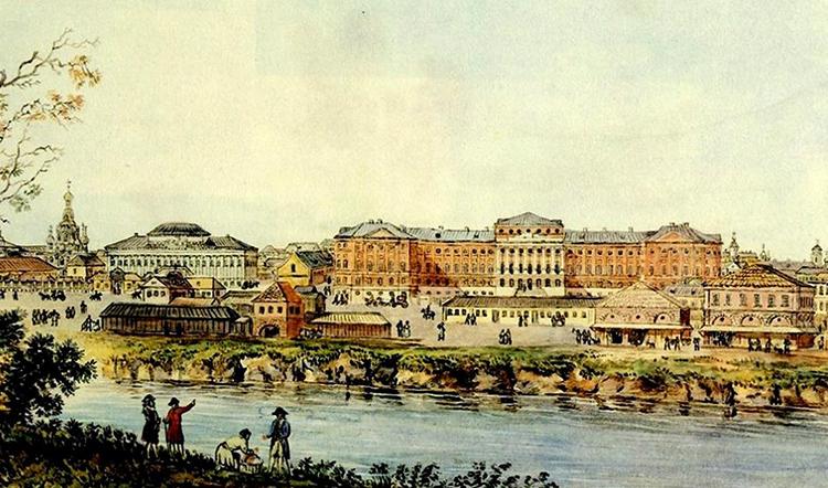 Здание МГУ в 18 веке