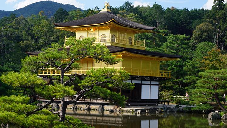 Золотой павильон (Кинкакудзи) в Киото