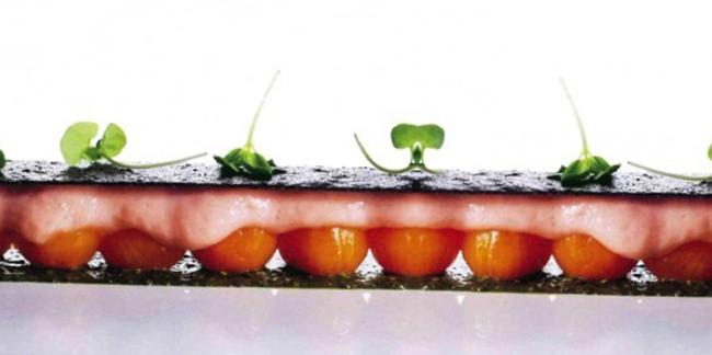 Перевернутый пирог с помидорами черри