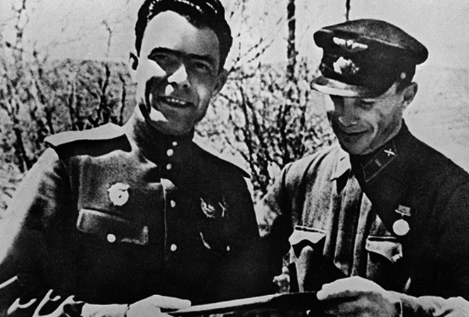 Брежнев во время войны