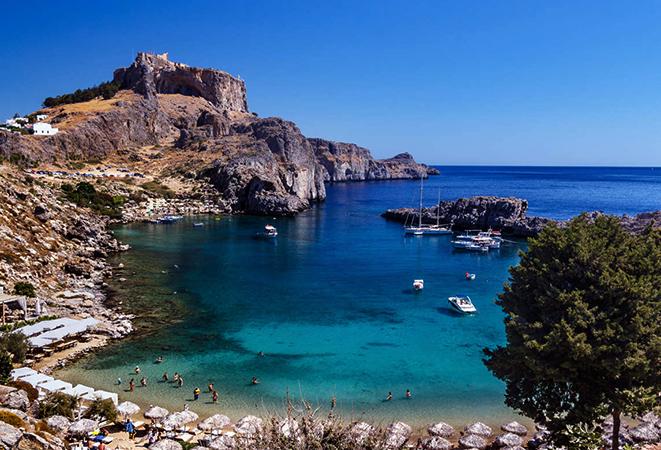 Бухта Святого Павла, Линдос, Родос