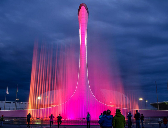 Светомузыкальный фонтан в Олимпийском парке