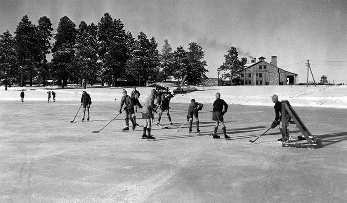 Хоккей в старые времена