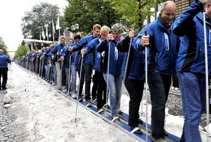 Самые длинные лыжи