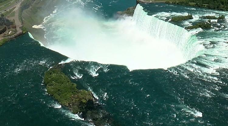 Мощь Ниагарского водопада
