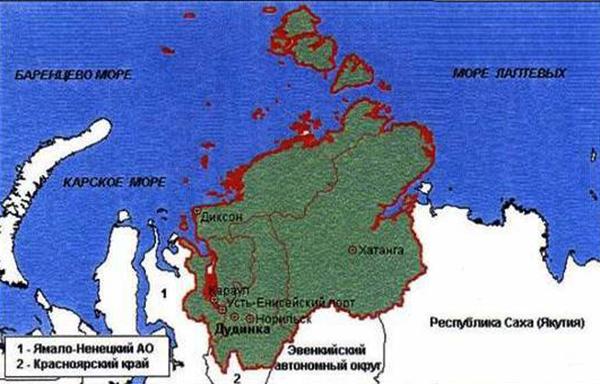 Расположение полуострова