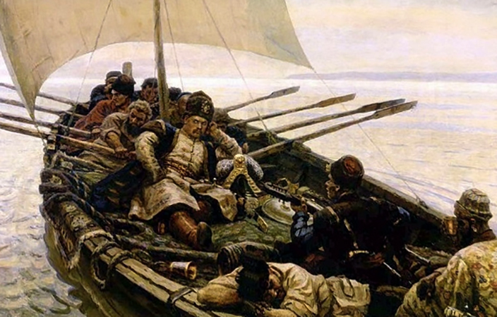 Разин на корабле