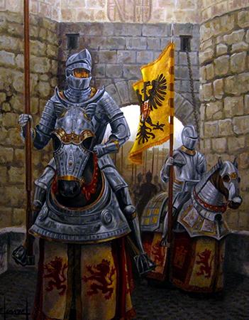 Рыцари в доспехах