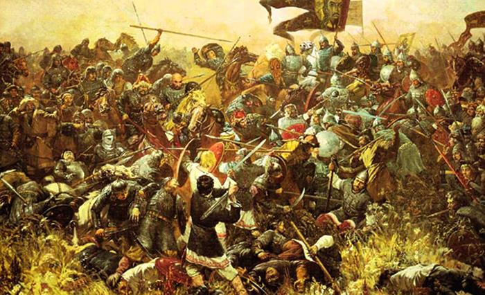 Во время битвы