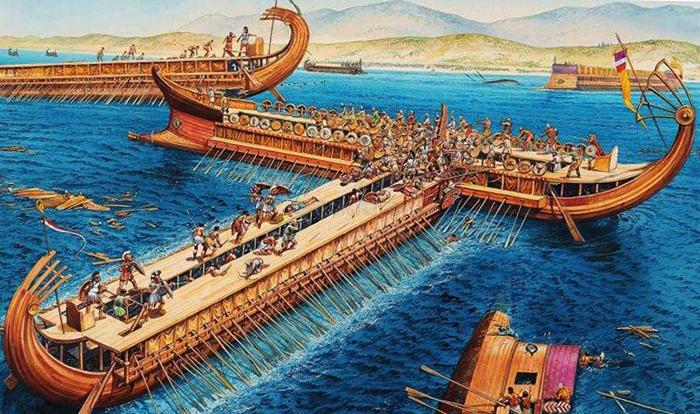 Во время битва при Саламине