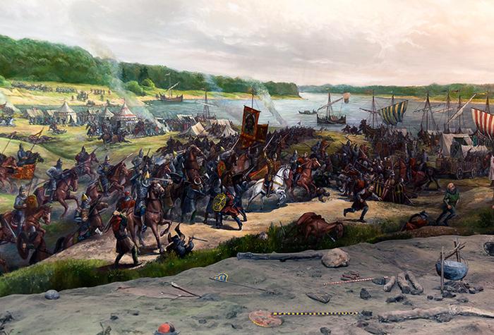 Во время Невской битвы