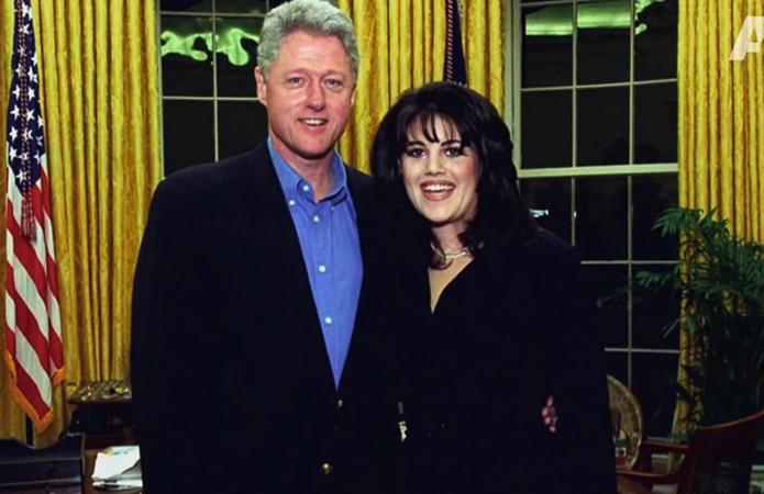 Билл Клинтон и Моника Левински
