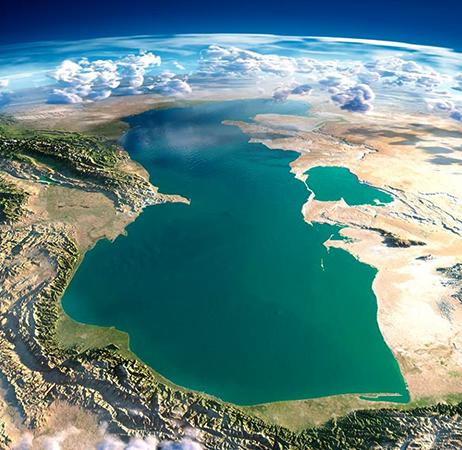 Каспийское море на карте