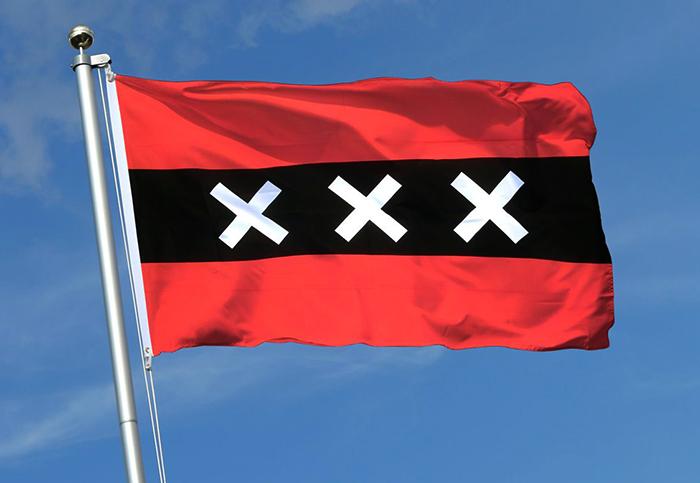 Флаг города Амстердам