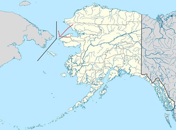 Граница Аляски и России