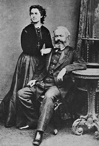 Маркс с женой