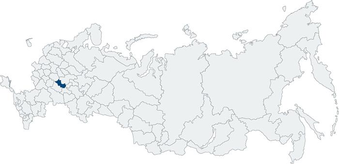 Мордовия на карте