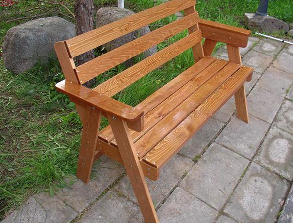 Скамейка из сосны