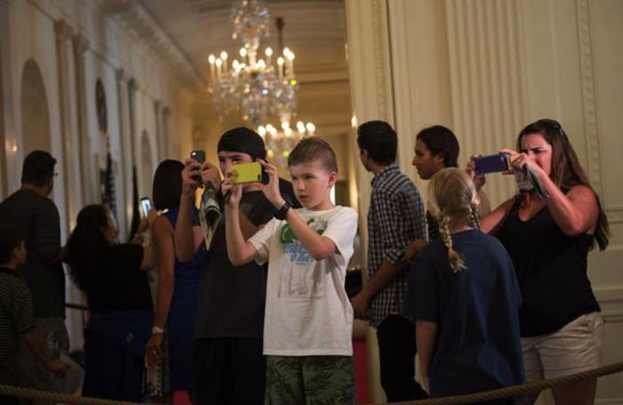 Туристы в Белом доме