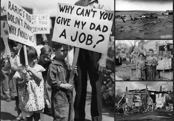 Во время Великой депрессии