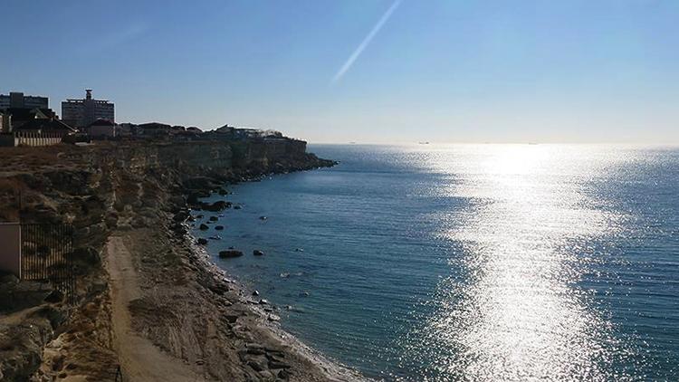 Вид Каспийского моря