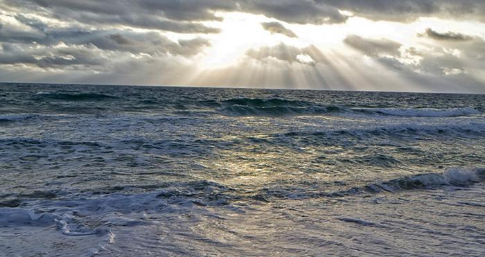 Вид океана