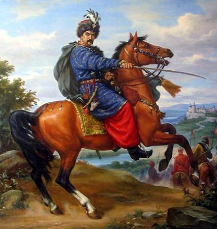 Богдан Хмельницкий на коне
