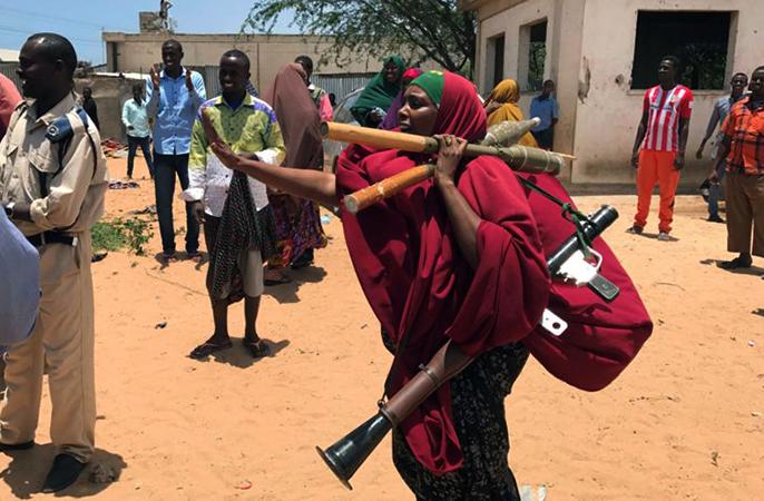 Женщина с оружием в Сомали