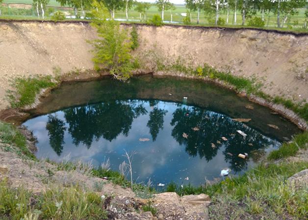 Озеро Акташский провал