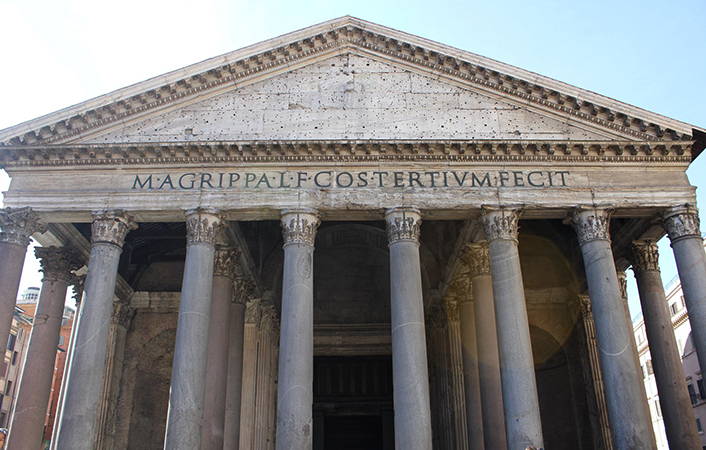 Вид Пантеона спереди