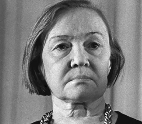 Ольга Берггольц в старости