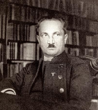 Мартин Хайдеггер за работой